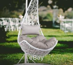 Hanging Relax Chair Garden Rattan Patio Swing Egg Seat Stand Cushion Hammock Sit