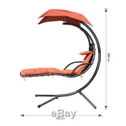 Helicopter Swing Hammock Seat Garden Hanging Chair Sun Lounger Gazebo with Cushion