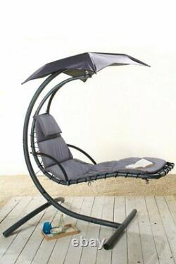 Helicopter Swing Seat chair garden Egg Lounger Hammock GREY COLLECTION ONLY CW1