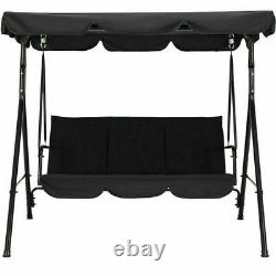Home Garden Patio 3 Seater Swing Chair Hammock Canopy Bench Lounger Seat Outdoor