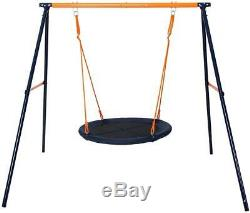 Kids Nest Swing Folding Garden Swing With Fabric Seat Outdoor Activity