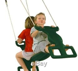Kids Outdoor Playground Rocket Rider Duo Swing Seat Toddler Garden Play Game