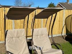Metal Frame Garden Double Swinging Seat in Good Condition
