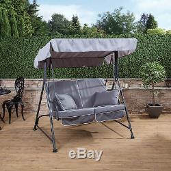 Mosca 2 Seater Garden Swing Seat Charcoal Frame with Luxury Cushions