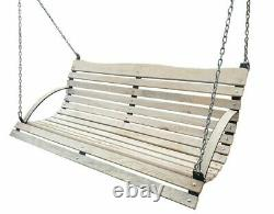 NEW wooden porch swing BENCH SEAT TO SWING + CHAIN + CARABINER XXL