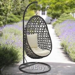New Cocoon Hanging Chair With Cushion Lawn Patio Swing Summer Garden Seat Hammoc