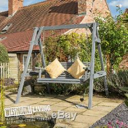 New Wooden Garden Outdoor Swing Seat Two Seater Furniture