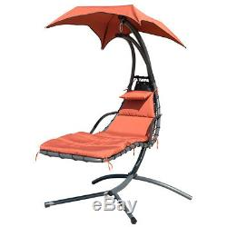 ORANGE GARDEN HELICOPTER DREAM CHAIR SWING HAMMOCK SUN LOUNGER SEAT ARC WithCANOPY