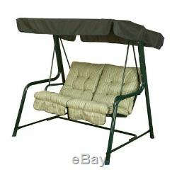 Outdoor 2 Seater Swing Seat Bench With Canopy Shade Garden Modern Furniture New