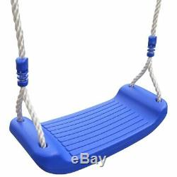 Outdoor Patio Swing Garden Single Seat Rope Childrens Toddler Baby Playground