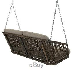 Outdoor Wicker Porch Swing Lounge Patio Garden Chair Seat Bench Home Furniture