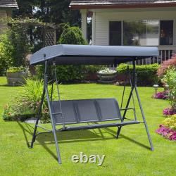 Outsunny Garden 3 Seater Hammock Swing Chair Outdoor Bench Seat Lounger
