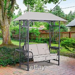 Outsunny Outdoor Garden 2 Seater Canopy Swing Seat Porch Loveseat Hammock Chair