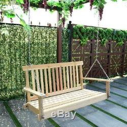 Porch Swing 4' Outdoor Garden Hanging Seat with Heavy Duty Adjustable Chains