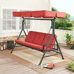 Porch Swing Chair Hanging Patio Bench Seat Outdoor Yard Canopy Garden 3-Person