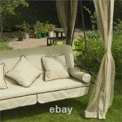 Regency Garden Lounger Hanging Swing Seat Hammock And Stand Daybed Metal Natural