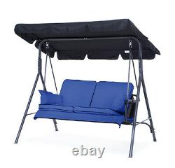 Replacement Royal Blue 2 Seater Swing Seat Hammock Cushions Set Pads Garden