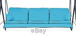 Replacement Turquoise 3 Seater Swing Seat Hammock Cushions Set Pads Garden Chair