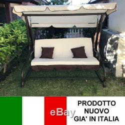 Rocking For The Garden 3 Seats With Roof Parasol Sofa Bed Swing Reclinable
