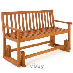 Rocking Wooden Garden Swing Bench 2-3 Seat Outdoor Conservatory Hardwood Benches