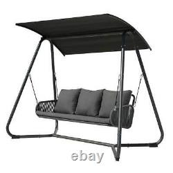 Rope Outdoor Swing Porch Hanging Seat Bench Patio Chair Garden Deck Furniture