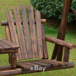 Rustic Swing Seat Outdoor Garden Furniture 2 Seater Patio Bench Rocking Chair