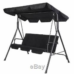 SUNMER Swing 3 Seater With Detachable Canopy Garden Swing Cushioned Seat