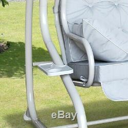 Somerset 3 Seat Swing Hammock Bed Heavy Duty Garden Bench Patio New Colour Grey