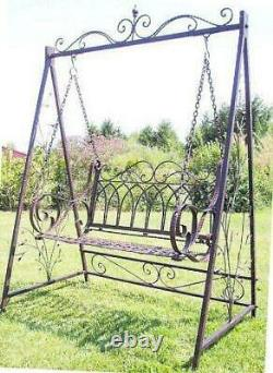 Swing Seat Metal 18688 With Chains Wrought Iron Garden Swing