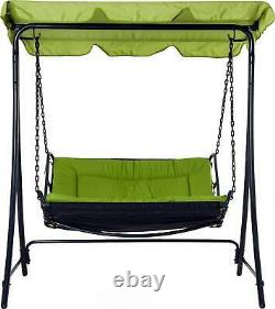 Tahiti Garden Lounger Hanging Swing Seat Hammock And Stand Daybed Metal Green
