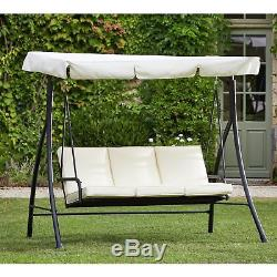 The Collection Barcelona 3 Seater Garden Swing Seat Cream From Argos On Ebay