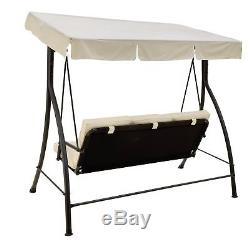The Collection Barcelona 3 Seater Garden Swing Seat Cream. From Argos on ebay