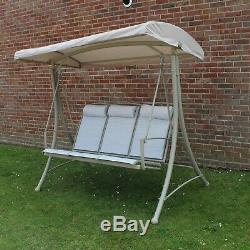 Three Seater Garden Swing Seat Used For Photography Only