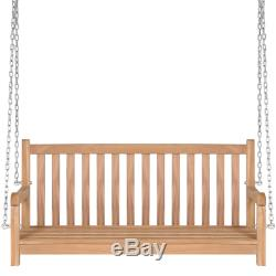 Traditional Swing Bench 3 person Seat Wooden Frame Outdoor Garden Furniture