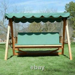 Used Outsunny Deluxe 3 Seater Garden Swing Chair Seat