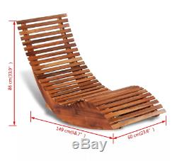 Wooden Deck Chair Outdoor Rocking Seat Garden Swing Patio Sun Bed Pool Lounger