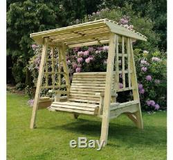 Wooden Garden Swing 2 Seat Hand Crafted Hammock Pressure Treated Adult Swing
