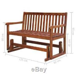 Wooden Garden Swing Bench 2 Seater Outdoor Patio Park Seating Furniture Brown