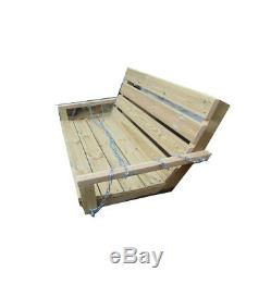 Wooden Garden Swing Bench 200cm Long Curved Wooden Seat