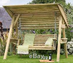 Wooden Garden Swing Seat Canopy Hammock Bench Outdoor Patio Porch Yard Furniture