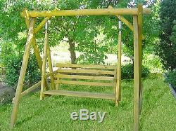 Wooden Garden Swinging Seat, Quailty, Treated, Outdoor, Heavy Duty, Outdoor