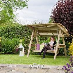 Wooden Swing Seat Canopy 2 Seater Garden Outdoor Patio Furniture