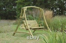 Wooden garden outdoor Swing Seat chair kdm ch4 chester north wales