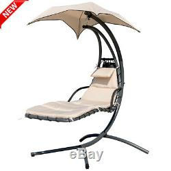 Yard Garden Helicopter Dream Chair Swing Hammock Sun Lounger Seat With Canopy UK